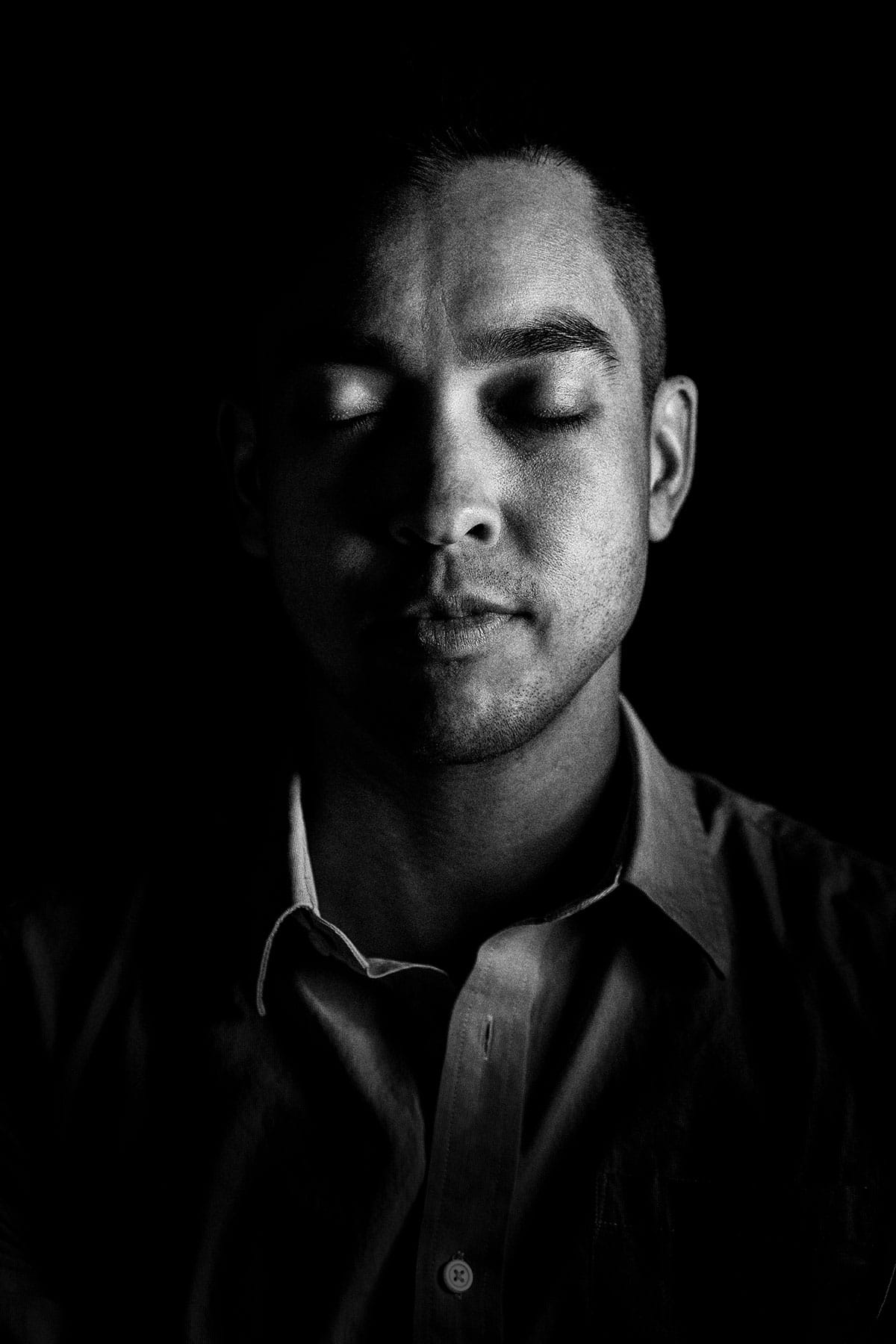 Eyes Closed Portrait of a Multicultural individuals: Black and White Portrait Photography by Jean Tran and Élysée Lang